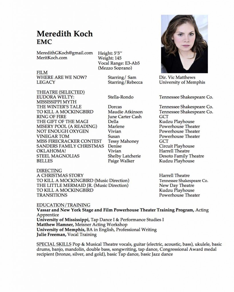 WEBKoch_Meredith Acting Resume 2.1.17